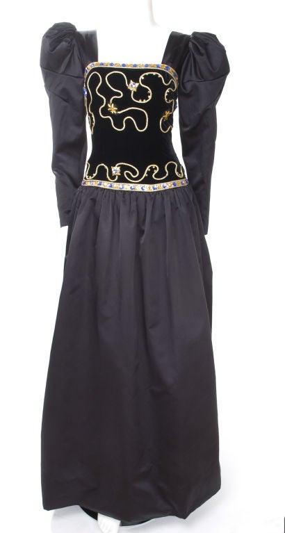 80's Givenchy Nouvelle Boutique Gown 2