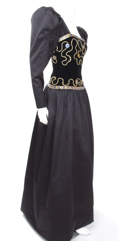 80's Givenchy Nouvelle Boutique Gown 7