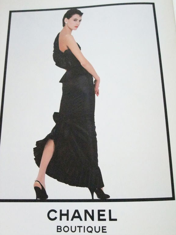 1986 Chanel Boutique Silk Gown image 3