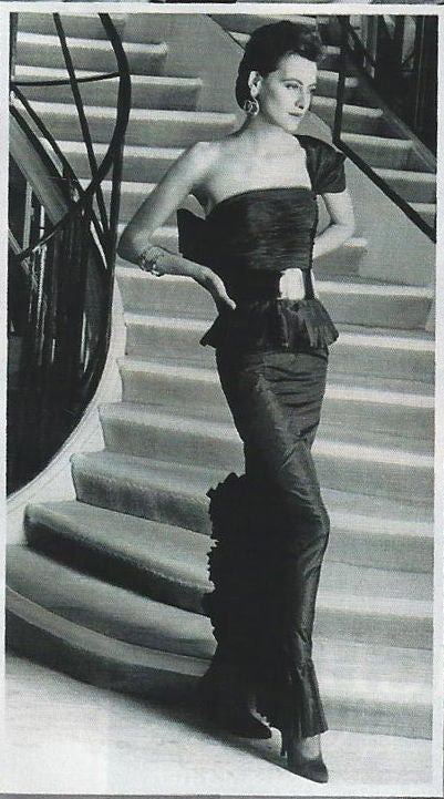 1986 Chanel Boutique Silk Gown image 10