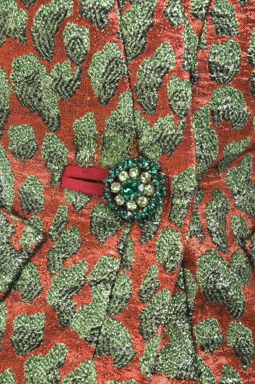 80's Vintage Yves Saint Laurent HAUTE COUTURE Brocade Suit 4