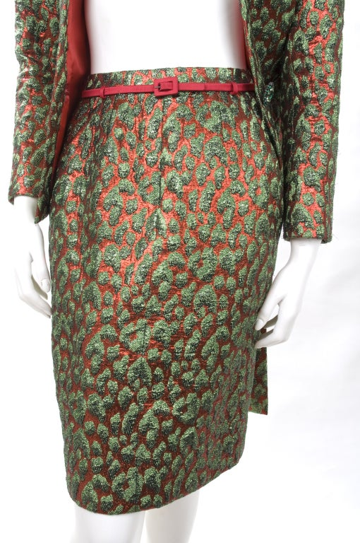 80's Vintage Yves Saint Laurent HAUTE COUTURE Brocade Suit 6
