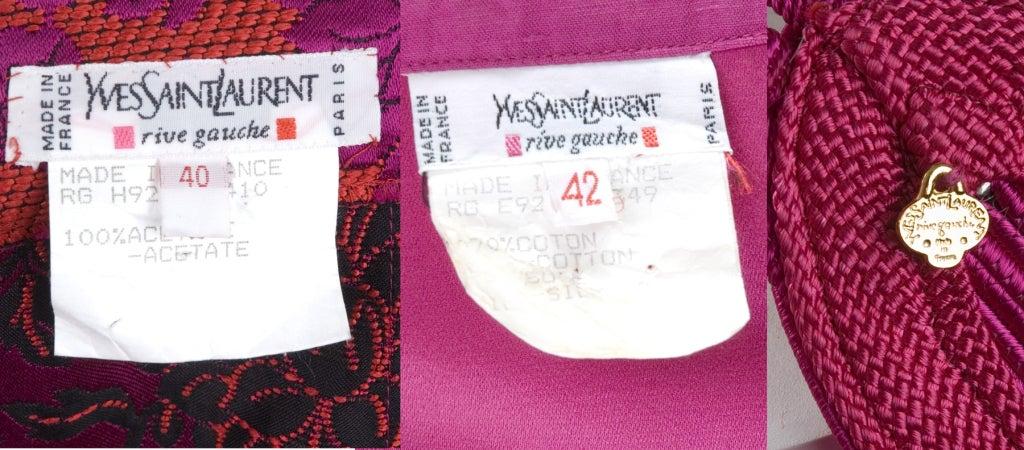Vintage 80's Yves Saint Laurent Blouse,Pants and Belt 10