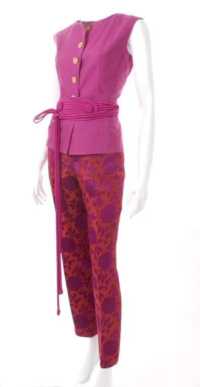 Vintage 80's Yves Saint Laurent Blouse,Pants and Belt 5
