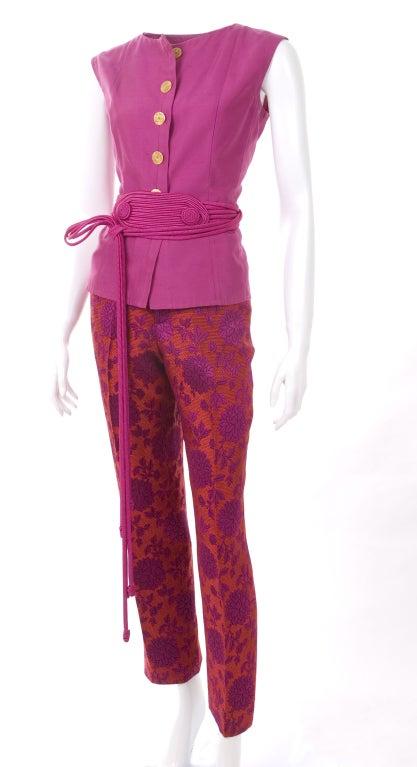 Vintage 80's Yves Saint Laurent Blouse,Pants and Belt 6