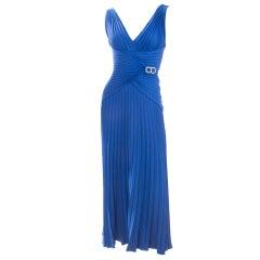 Loris Azzaro Royal Blue Gown