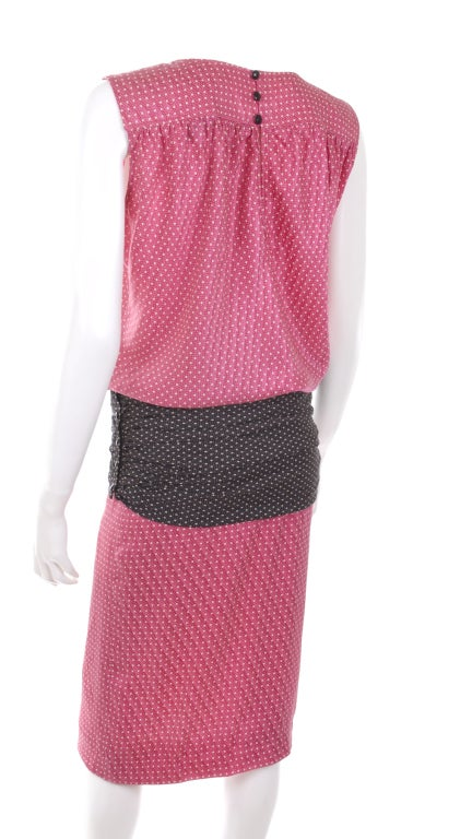1980 ungaro silk dress with hip belt for sale at 1stdibs