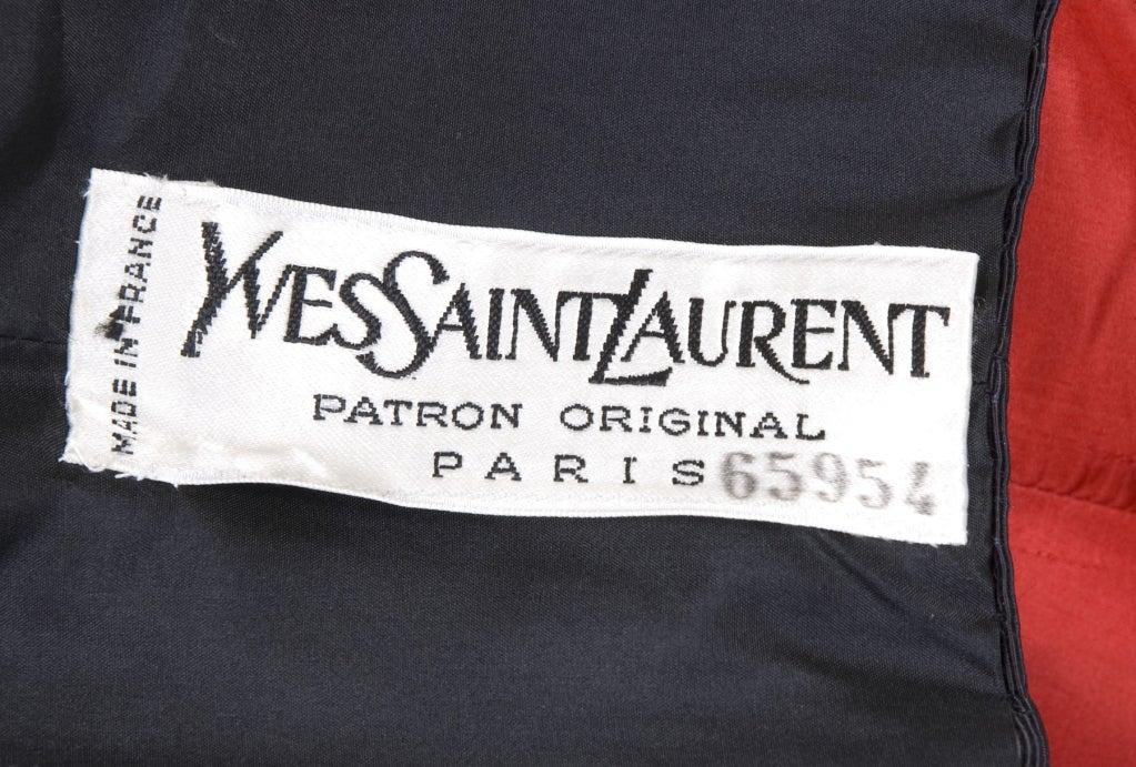 Yves Saint Laurent Haute Couture Bustier Dress and Bolero For Sale 5
