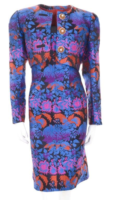 Yves Saint Laurent Haute Couture Bustier Dress and Bolero For Sale 2