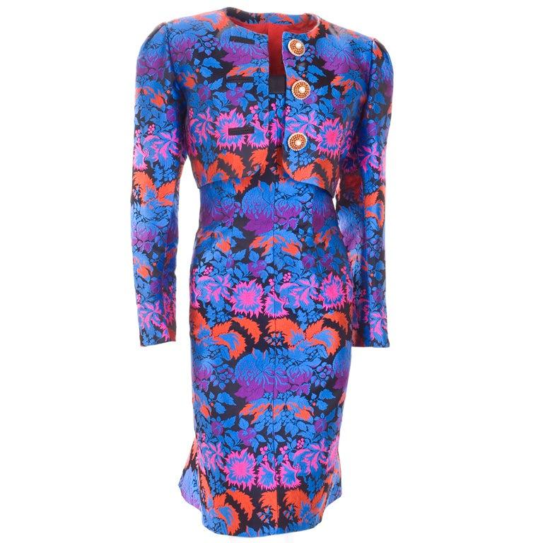 Yves Saint Laurent Haute Couture Bustier Dress and Bolero For Sale