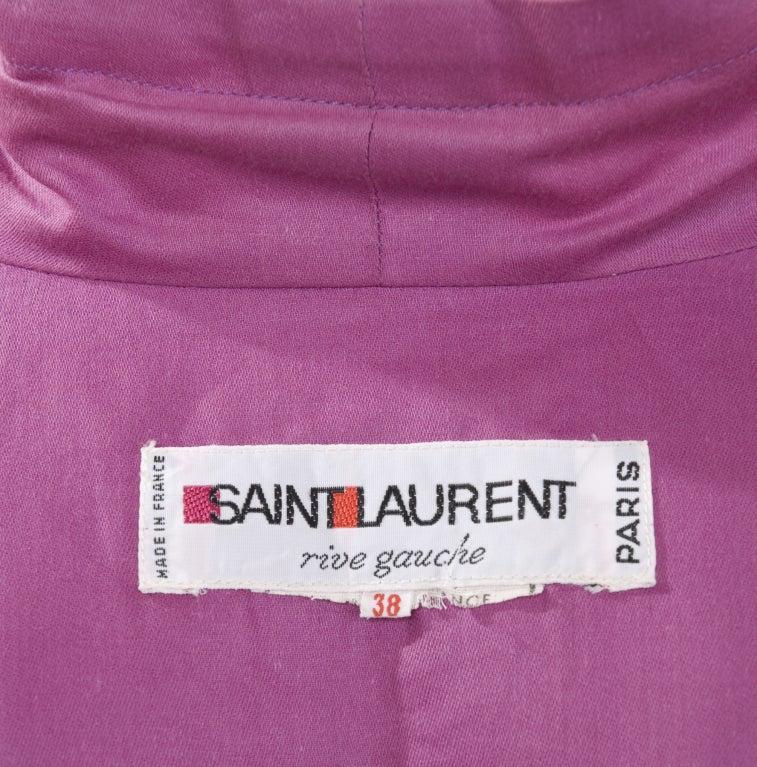 Vintage Rare Yves Saint Laurent Hand Painted Cotton Cocoon Coat. 7