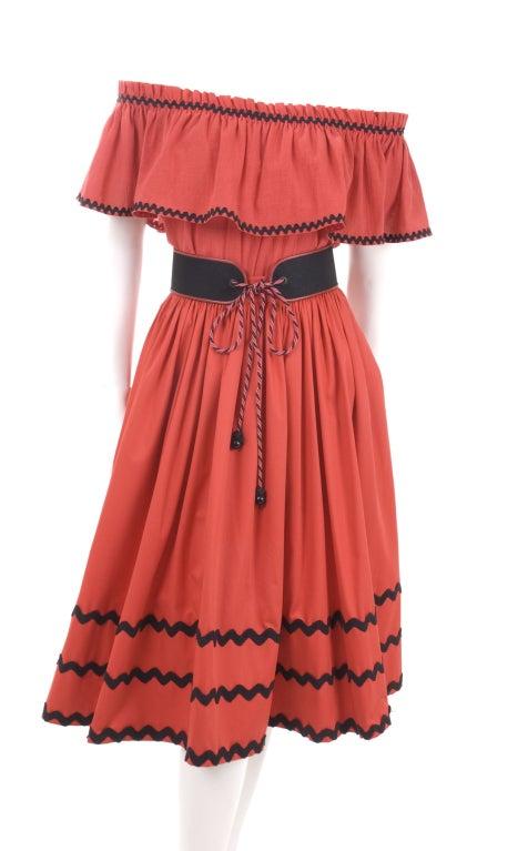 Yves Saint Laurent Gypsy Blouse, Skirt and Belt image 3