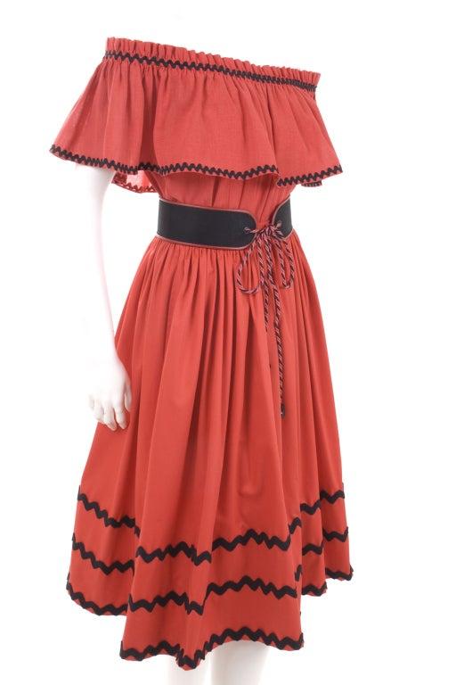 Yves Saint Laurent Gypsy Blouse, Skirt and Belt image 4