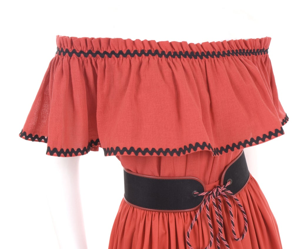 Yves Saint Laurent Gypsy Blouse, Skirt and Belt 5