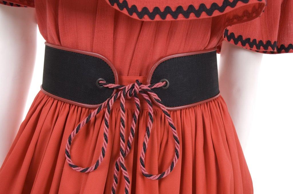 Yves Saint Laurent Gypsy Blouse, Skirt and Belt image 6