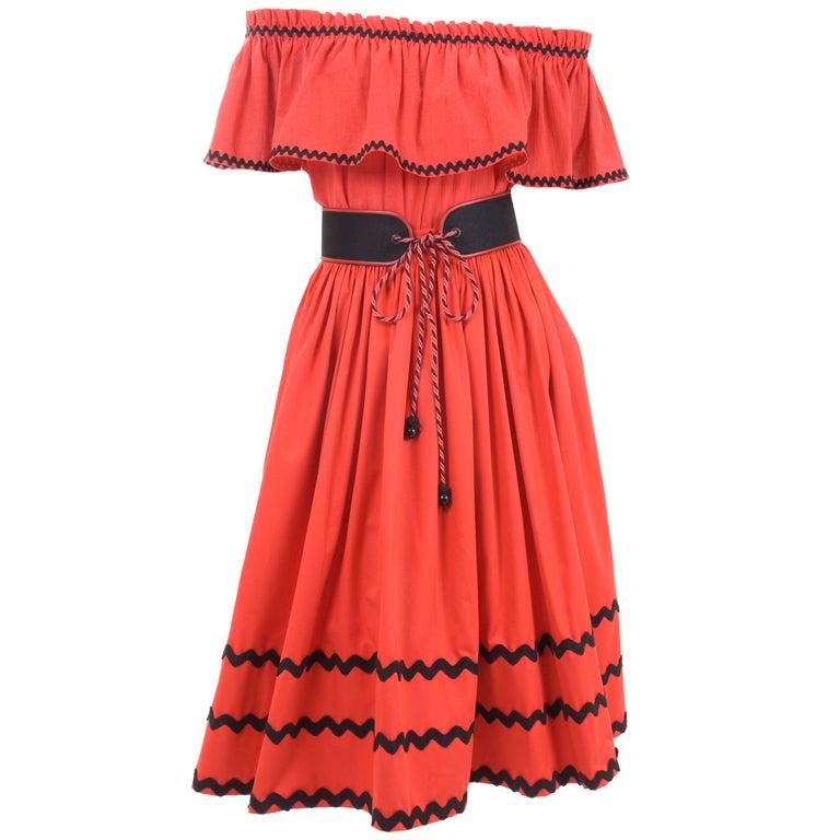 Yves Saint Laurent Gypsy Blouse, Skirt and Belt