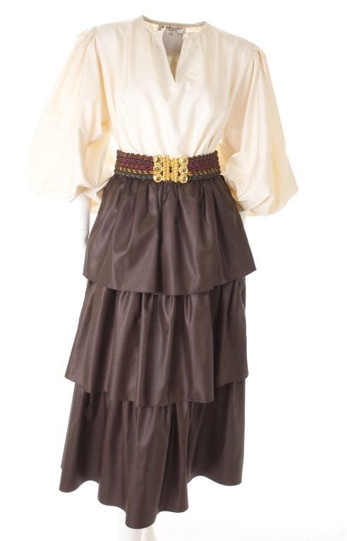 Yves Saint Laurent Skirt, Blouse and Belt 2