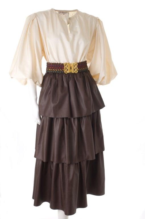 Yves Saint Laurent Skirt, Blouse and Belt 4