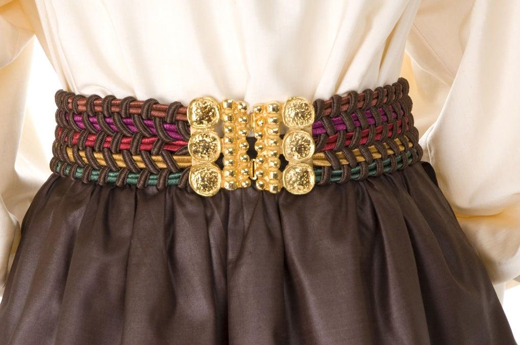 Yves Saint Laurent Skirt, Blouse and Belt 5