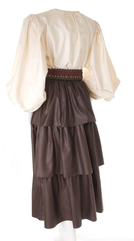 Yves Saint Laurent Skirt, Blouse and Belt 6