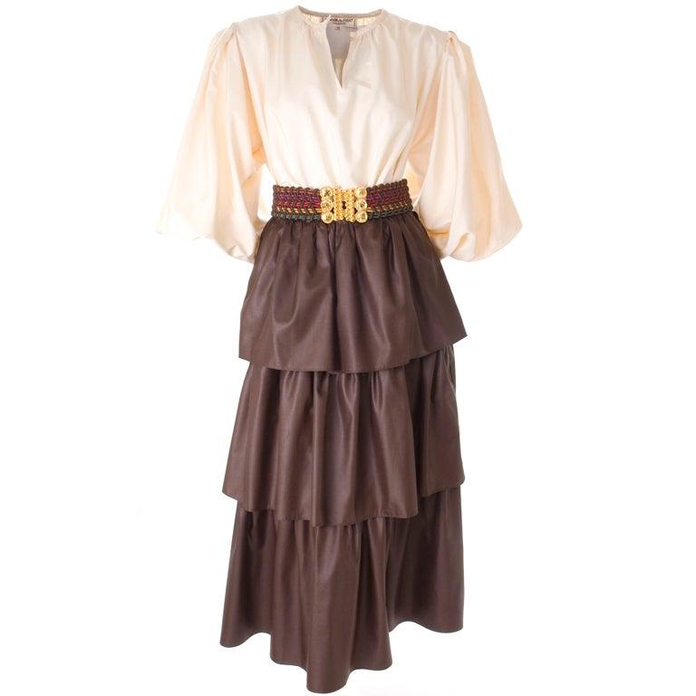 Yves Saint Laurent Skirt, Blouse and Belt 1