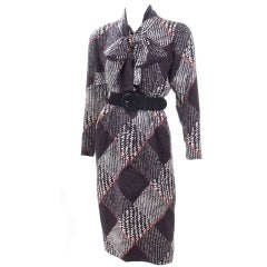 Vintage Givenchy Couture Jacquard Silk Dress