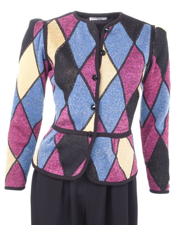 Yves Saint Laurent Famous Harlequin Outfit