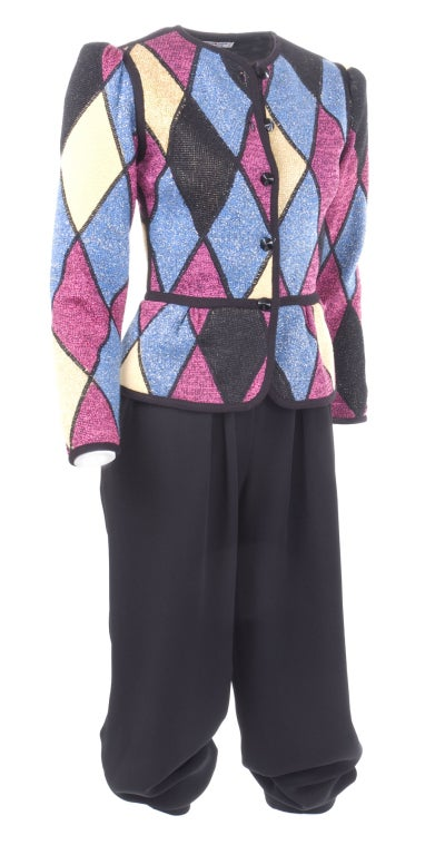 Women's Yves Saint Laurent Famous Harlequin Outfit For Sale