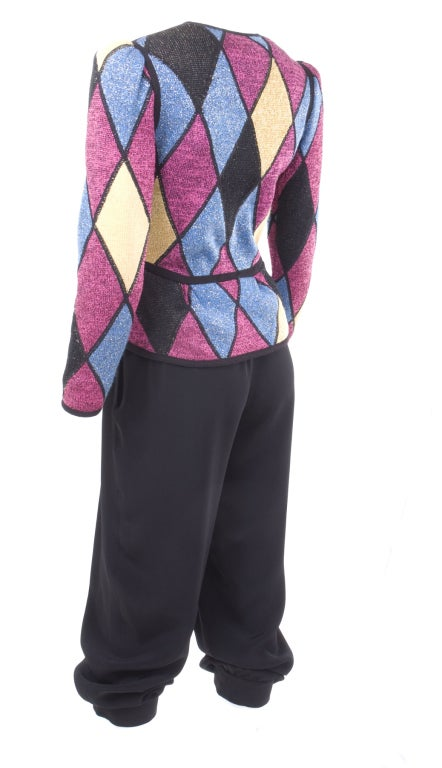 Yves Saint Laurent Famous Harlequin Outfit For Sale 1