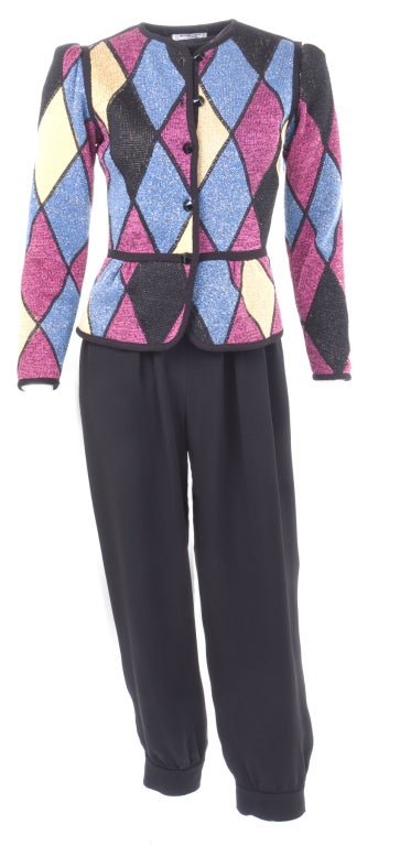 Yves Saint Laurent Famous Harlequin Outfit For Sale 2