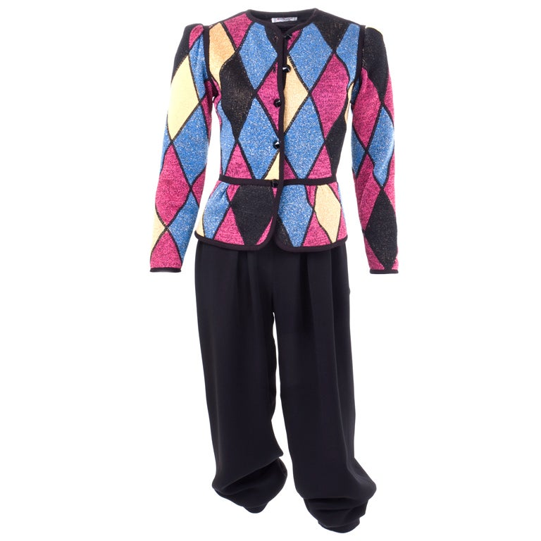 Yves Saint Laurent Famous Harlequin Outfit For Sale