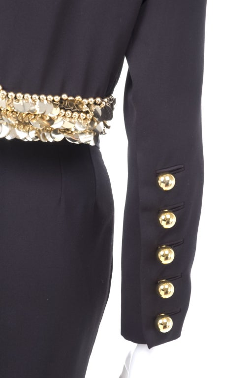 80's Yves Saint Laurent Suit with Gold Sequins 7