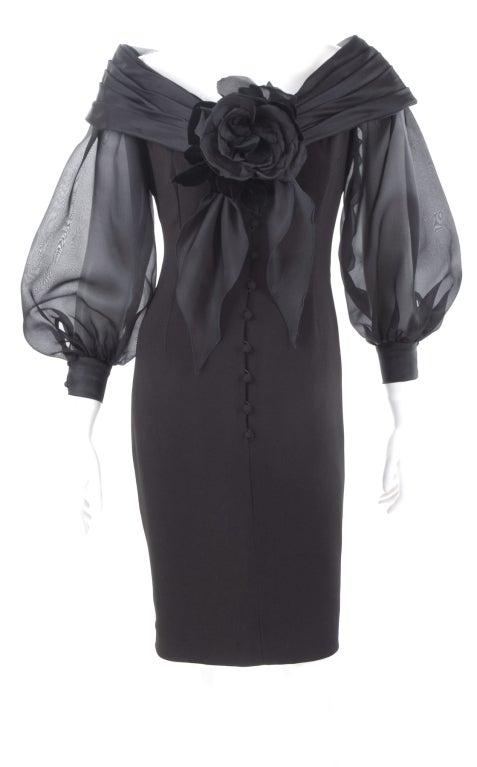 Vintage Scherrer Boutique Off Shoulder Cocktail Dress 2
