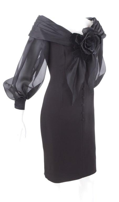 Vintage Scherrer Boutique Off Shoulder Cocktail Dress 3
