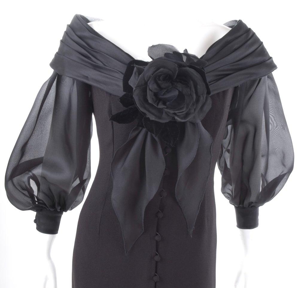 Vintage Scherrer Boutique Off Shoulder Cocktail Dress 5