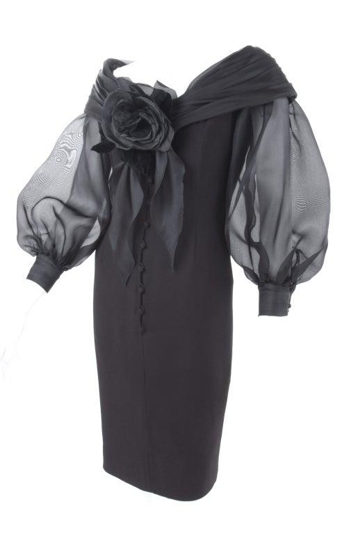 Vintage Scherrer Boutique Off Shoulder Cocktail Dress 6