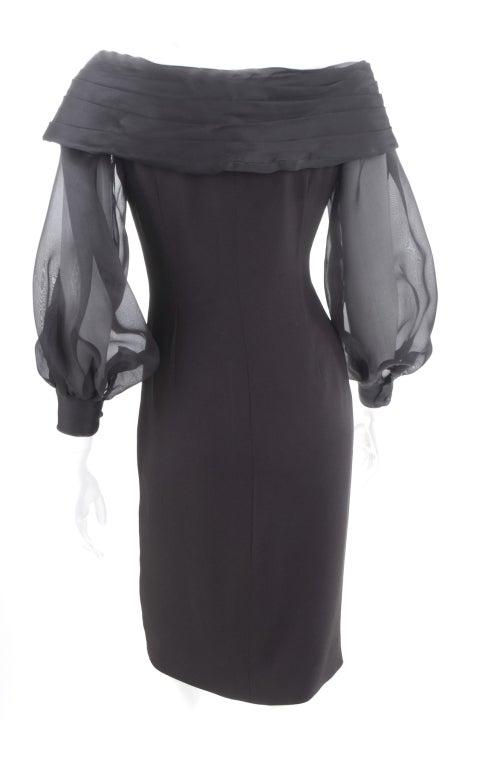 Vintage Scherrer Boutique Off Shoulder Cocktail Dress 7