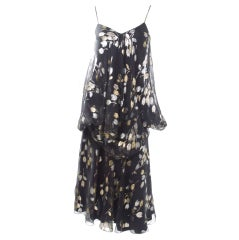 Stravropoulos Silk Chiffon Cocktail Dress