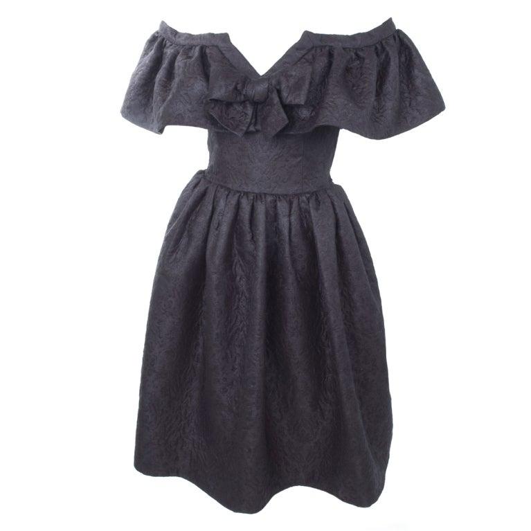 Yves Saint Laurent Cloque Cocktail Dress 1
