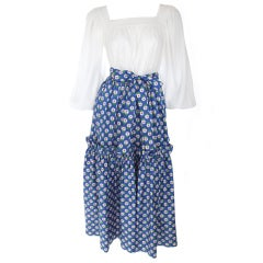 Yves Saint Laurent Daisy Print Skirt with Blouse
