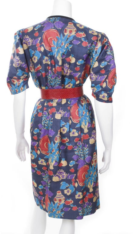 Yves Saint Laurent 2 Piece Dress with Belt For Sale 1