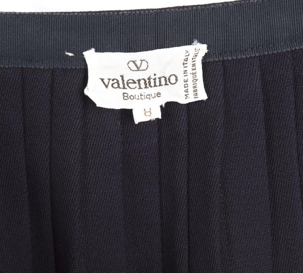 Vintage 80's Valentino Boutique Black Pleated Skirt 3