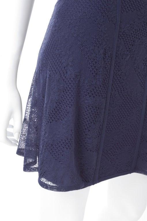 90's Original Herve Leger Navy Lace Dress 5