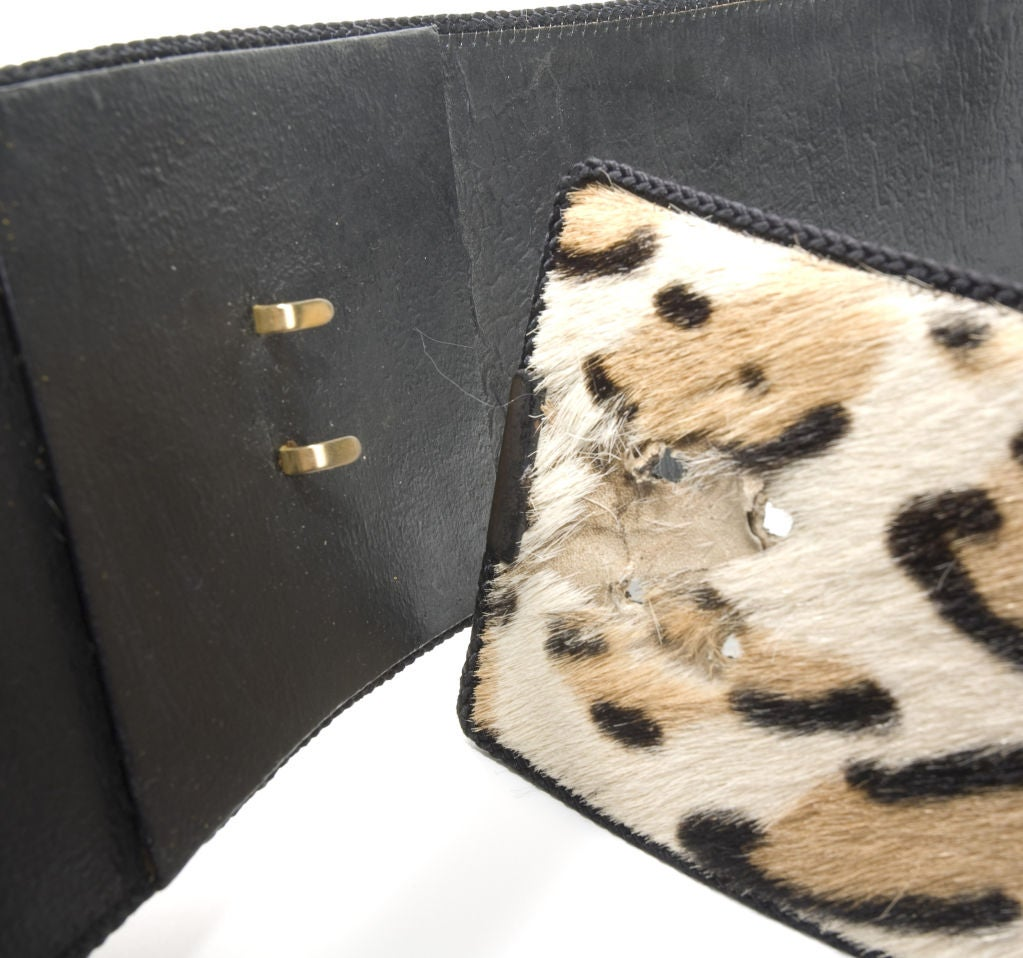 Women's 70's Christian Dior Animal Print Wrap Belt For Sale