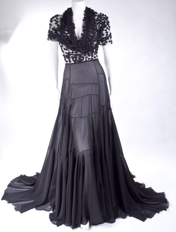 Vionnet Black Silk Evening Skirt 2
