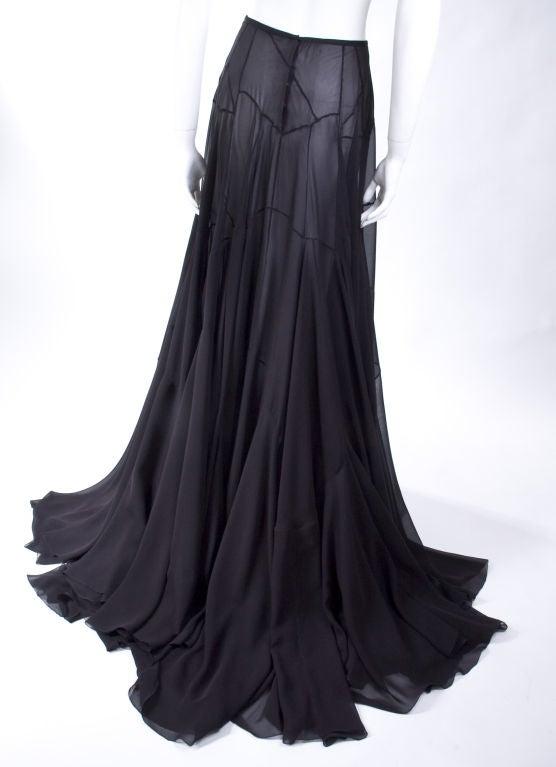 Vionnet Black Silk Evening Skirt 3
