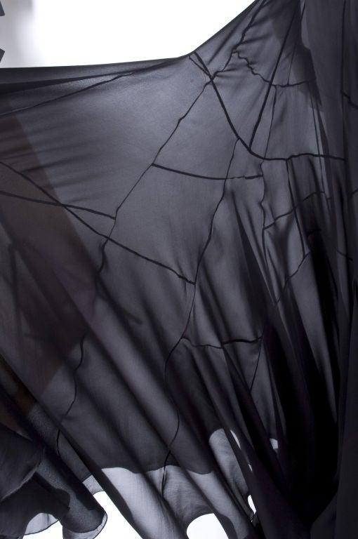 Vionnet Black Silk Evening Skirt 6