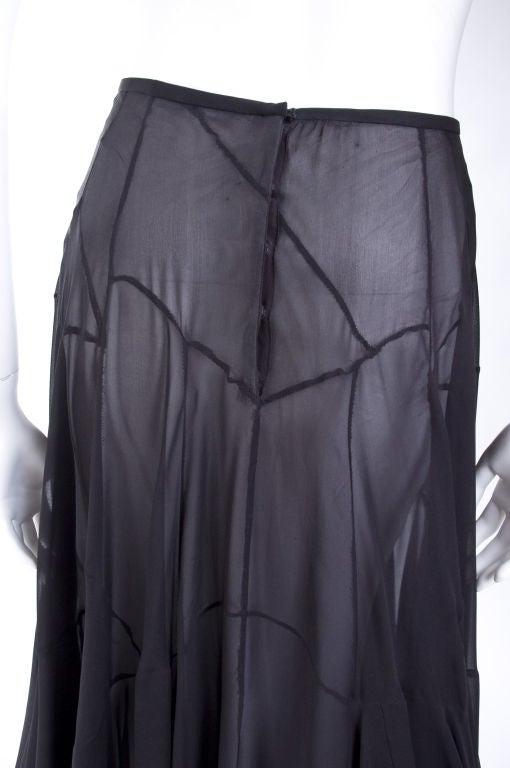 Vionnet Black Silk Evening Skirt 7