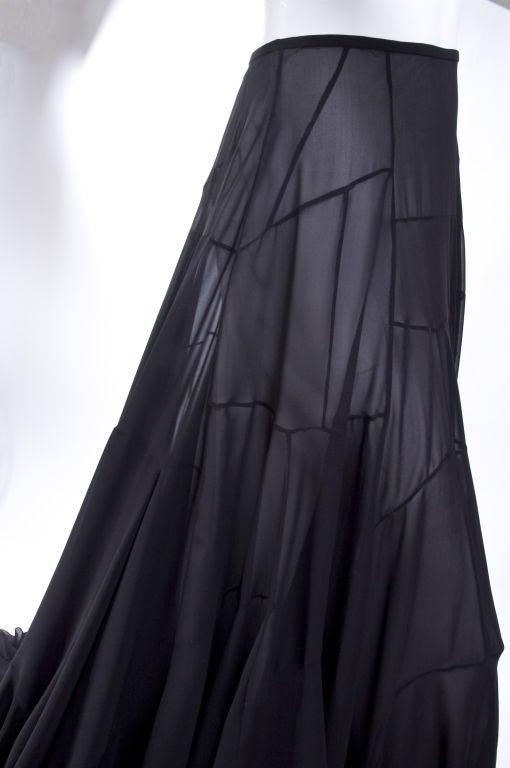 Vionnet Black Silk Evening Skirt 8