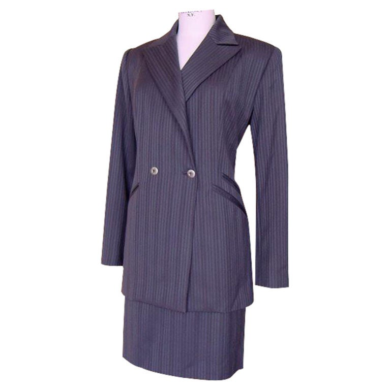 CLAUDE MONTANA Suit Vintage Skirt Suit 44 usa 8 to 10